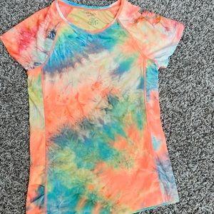Tie dye sports t-shirt